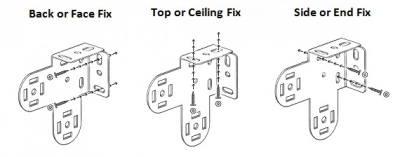 diagram of dual roller blind bracket